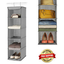 5 Section Closet Organizer Sturdy Hanging Shelves Home Rome Storage Metal Frame