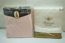 VINTAGE SPRINGMAID SHEET FIELDCREST FULL FLAT DOUBLE FITTED 50% PERCALE NEW 2