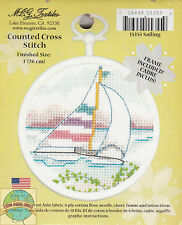 Cross Stitch Mini Kit ~ M.C.G. Sailing w/Frame #15355