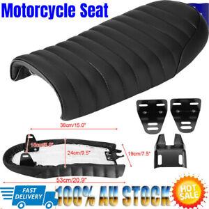 Universal Retro Hump Saddle Motorcycle Custom Cafe Racer Seat For Honda AU NEW