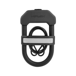 Hiplok DXC Compact Cycle D Lock + 1m Cable Sold Secure Gold - Black