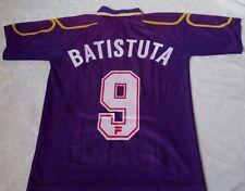 Fiorentina 1997-98 Batistuta #9 Home Fila Soccer Football Jersey Short Sleeve