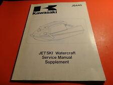 OEM FACTORY KAWASAKI 1984-87 JS440 SERVICE MANUAL SUPPLEMENT 15 CHAPTERS
