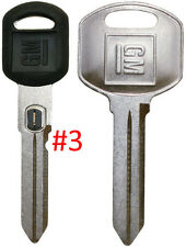 NEW GM OEM D. Sided VATS Ignition Key #3 + Doors/Trunk OEM Key - MADE IN USA