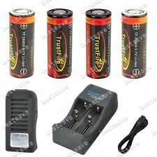 TrustFire TR-006 Charger +4x 26650 5000mAh Rechargeable Protected Battery B0465