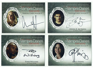 Vampire Diaries Season 4 Cryptozoic 2016 Autograph Card Selection