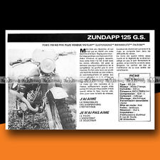 ★ ZUNDAPP 125 GS ★ 1977 Essai Moto / Original Road Test #c190