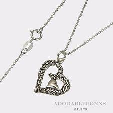 Authentic Lori Bonn Sterling Silver Cradle Rocker Necklace  512178