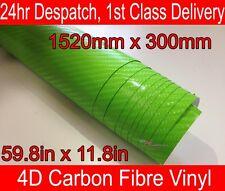 4D Carbone Fibre Vinyle Wrap Film Feuille Citron Vert 300mm (11.8 in) X 1520mm (59,8 dans)