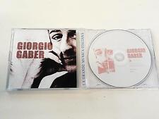 GIORGIO GABER LA GRANDE MUSICA ITALIANA CD 2007