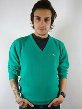 Uomo vintage ORIGINALE anni'80 LACOSTE TENNIS SWEATER TOP M