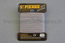 M002 Mercerie carte fil LAINE SAINT PIERRE  Col 126 POUSSIERE 50%  Laine 50% Nf