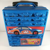 Hot Wheels Mattel 100 CAR Rolling CARRY CASE #20375 1997 #44 Nascar Race Car