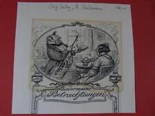 Grafica a26 DISEGNO ORIGINALE Stockmann Dachau dachauer pittore Biedermann Maier