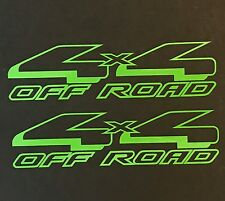 2 LIME GREEN 4X4 DECAL STICKER FORD F150 RANGER CHEVY SILVERADO DODGE RAM TOYOTA
