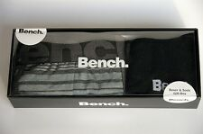 Bench Herren Unterwäsche Boxer Shorts + Socken  Geschenk Set Größe S