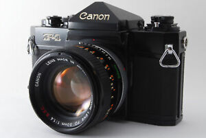 [Exc+5] Canon F1 Black 35mm SLR Film Camera + FD 50mm f1.4 S.S.C From JAPAN #39