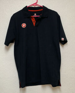 Castelli Stelvio Men's Casual Polo Shirt Black Sz XL EUC