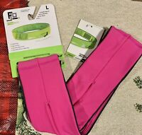 FlipBelt Classic Running/Gym/Medical Device Belt Size Large Hot Pink L NWT