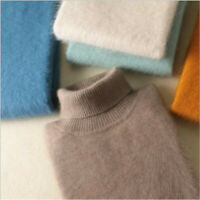 Autumn & Winter New 100% Mink Cashmere Sweaters Men's Turtleneck Loose Pullover