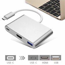 3 in1 Type C/Thunderbolt 3 to 4K HD HDMI & USB 3.0 & USB-C Hub Adaptor/Converter