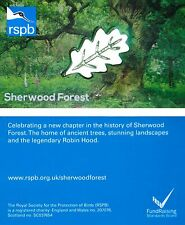 RSPB Pin Badge | Oak Leaf | Sherwood Forest conservation management [00944]
