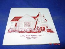 Vintage Trivet Tile Ashley United Methodist Church Ashley Michigan 1887 1987