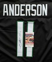 Robby Anderson New York Jets Signed Auto Black XL Jersey JSA Witnessed COA