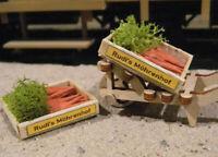 Spur G 2 Möhren-Kisten, Karotten, Carrots, Ladegut, Gemüse, G-Scale