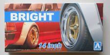 "1/24 BRIGHT 14"" Tire Wheel Set AOSHIMA CAR MODEL ACCESSORY"