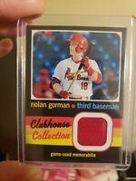 Nolan Gorman 2020 Heritage Minor League Relic