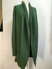 Burberry Prorsum grass green cashmere cardigan long open S M