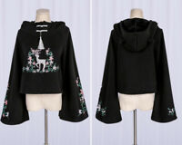 Sweet Lolita Embroidery Hoodie Lovely Girls Gothic Sweater Harajuku Tops 2Colors