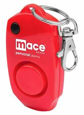 Mace Brand 130 dB Personal Alarm with Whistle, Hidden Off Button, Key Ring Red
