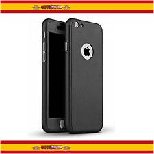 "360 Funda Carcasa Case + Protector Cristal Templado Para iPhone 7 4.7"" Negro"