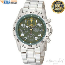 SEIKO SND377P Chronograph Men's Watch Stainless Steel Green New Japan F/S EMS