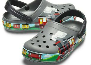 New Crocs Fun Lab Train Band Clogs Toddler Boys Shoes Size C7 NWT! Adorable!!