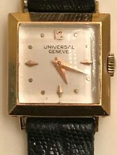 Vintage Ladies 18K Solid Rose Gold Universal Geneve Mechanical Watch- Working