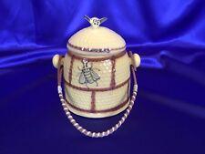 Vintage House of Webster Beehive Honey Pot Cookie Jar Original Handle!