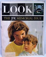 LOOK MAGAZINE 17 NOVEMBER 1964 VINTAGE NEWS PRESIDENT KENNEDY MEMORIAL ISSUE