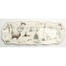 """Better Homes and Gardens Heritage 15"""" Appetizer Narrow Serving Tray Platter NEW"""