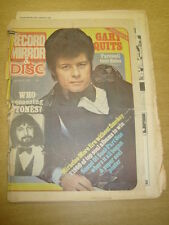 RECORD MIRROR 1976 JAN 31 GARY GLITTER WHO ROLLING STONES SMOKIE MIRACLES