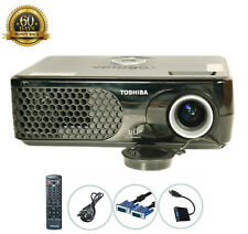 New listing Toshiba Tdp-Sp1 Dlp Projector Portable 2200 Ansi Hd Hdmi-adapter bundle