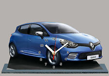 MODEL CARS, RENAULT CLIO SPORT -06 with Clock 11,8x 7,8 inches and aluminium