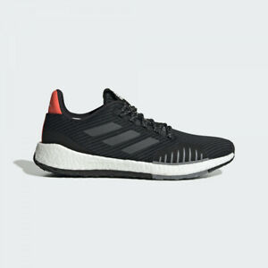 adidas Pulse boost HD Winter Comfort Running Shoes Size 10 M Black/Orange/Red
