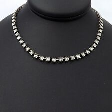 14K White Gold 2ctw Add A Diamond Illusion Head Tennis Necklace Sz 17""