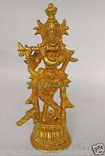 "Krishna Gopal Hindu Lord Religious God Kanaiya Brass Metal Statue idol 7x3"""