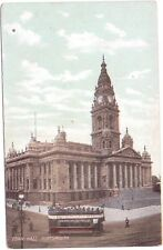 Vintage Postcard  Town Hall Portsmouth Open Top Tram People
