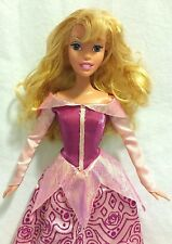 Disney Store Princess Aurora Barbie Doll Pink Dress EUC