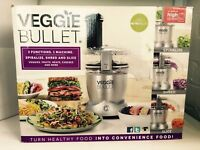 Veggie Bullet by NutriBullet Electric Food Processor 3-in-1 Vegetable Spiraliser
